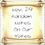 Nov. 24 Random Notes On Our Yotes
