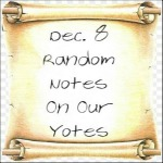 Dec. 8 Random Notes On Our Yotes