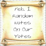 Feb. 1 Random Notes On Our Yotes