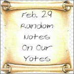 Feb. 29 Random Notes On Our Yotes
